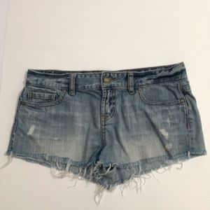 Distressed denim short shorts by Pink size 2